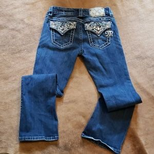 Miss me Jean's size 25 mid rise easy boot cut